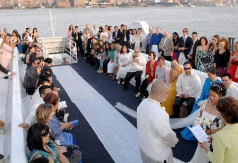 Ceremony on yacht in Goa