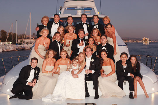 ceremony on yacht
