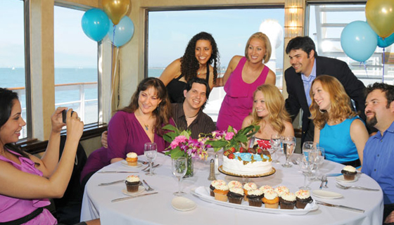 Birthday party in yacht