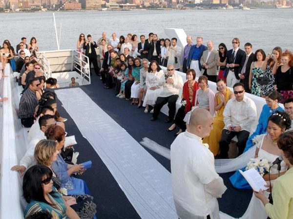 Ceremony on yacht in Goa